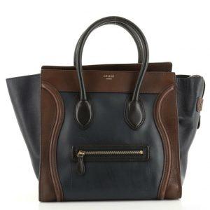 Celine Tricolor Luggage Bag Leather Mini