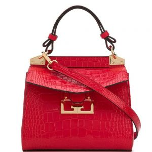 Givenchy Mystic Mini Bag, Red Embossed Leather