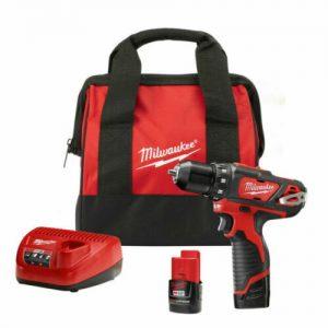 Milwaukee 2407-22 M12 Li-Ion 3-8 in. Drill-Driver Kit New