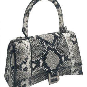 Balenciaga Snakeskin Embossed Leather Top Handle Bag
